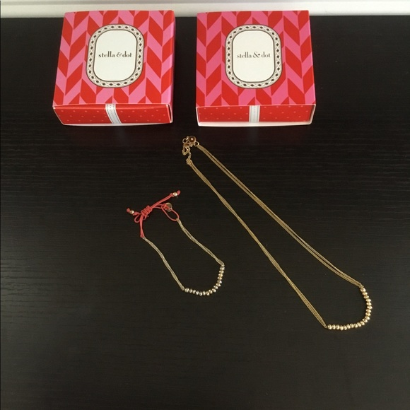 Stella & Dot Jewelry - Stella & Dot Piper Necklace and Bracelet - Gold